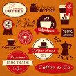 Stock Vector: Vintage Coffee Labels