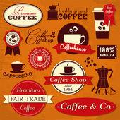 Vintage Coffee Labels — Stock Vector