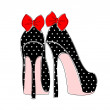 Elegant Pin-up Style Shoes — Stock Vector