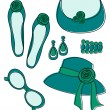 Fashion Accessories Set — Stockvektor