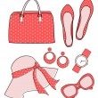 Stock Vector: Fashion Accessories Set
