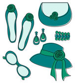 Fashion Accessories Set — Stock Vector