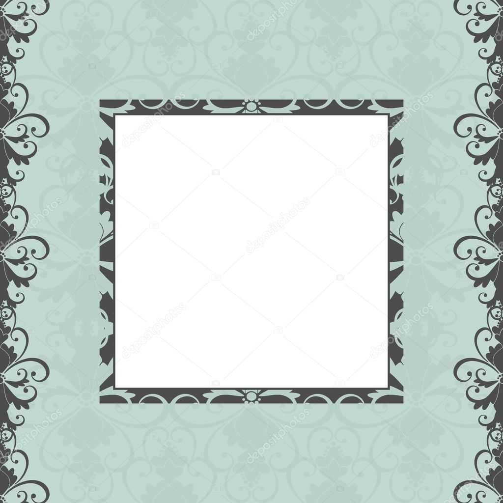 Elegant greeting card template in vintage style. Elements are grouped for easy editing. — Stock Vector #8605427
