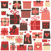 Valentine Presents Collection — Stock Vector