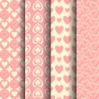Royalty-Free Stock Imagem Vetorial: Valentine Patterns Set