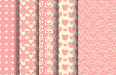Valentine Patterns Set — Vettoriale Stock