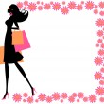 Summer Shopping Girl — Stock Vector