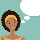 Happy Thoughts (Afro-American) — Vector de stock
