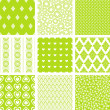 Seamless Patterns Set — Stock Vector #9172952