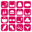 Stock Vector: Elegant Fashion Accessories Icons