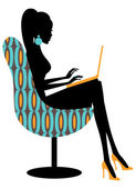 прохладный мода блоггер — Cтоковый вектор