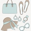Fashion Accessories Set - Stock Vector
