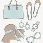 Fashion Accessories Set — Stock Vector
