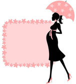 Baby Shower (pink) — Vector de stock