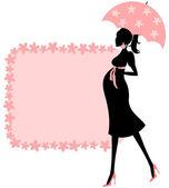 Baby shower (różowy) — Wektor stockowy