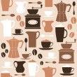 Retro Coffee Background — Imagens vectoriais em stock