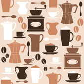 Retro Coffee Background — Stock Vector