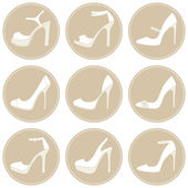 Summer Shoes Icon Set — Stock Vector