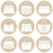Summer Bags Icon Set — Stock Vector