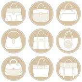 Summer Bags Icon Set — Stock Vector
