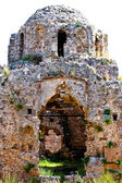 Ruins of fortress. The byzantine church. Castle of Alanya — Stock Photo