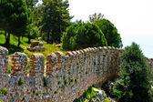 Wall of fortress . Alanya. Turkey — Stock Photo