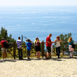 Tourists on viewing platform. AlanyKalesi. Turkey — Stock Photo #10395595