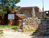 RUINS OF OTTOMAN FORTRESS IN ALANYA. Museum in turkey — Stock Photo