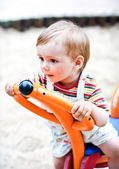 Young Boy on swing — Stock Photo
