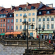 Tourist place in Warsaw. Center of capital. Poland — Stock Photo
