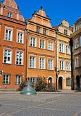 Bell on the Kanonia Square in the Old Town of Warsaw, Poland — Stock Photo