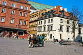 Horse in old town. Warsaw. Poland — 图库照片
