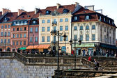 Tourist place in Warsaw. Center of capital. Poland — Stockfoto