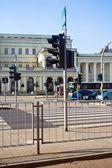 Poland. Modern Warsaw. Banking square. — Stock Photo