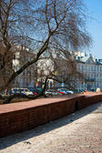 Unusual appearance of the old city of Warsaw . Poland — Stock Photo