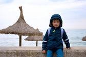 Cute boy on the beach, Spain — Stock Photo