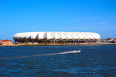 Soccer world cup 2010 stadium Nelson Mandela Bay, South Africa — Stock Photo