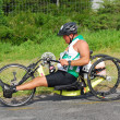 Постер, плакат: Disabled athlete at Ironman