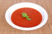 Home made tomato soup — Stock Photo