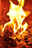 Brightly burning crumpled paper — Stock Photo
