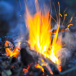 Dim bright fire — Stock Photo