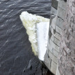 The big piece of the broken ice in the Neva — Stock Photo #9351972