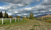 Arrowtown on a Cloudy blue sky in New Zealand — Stock Photo