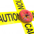 Foto de Stock  : Junk food warning