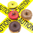 Unhealthy food warning — Stock Photo