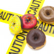 Junk food warning — Stockfoto