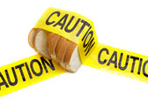 Gluten dietary warning — Stock Photo