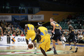 WROCLAW POLAND - SEPTEMBER 19: Maccabi Tel Aviv playing with Ass — Stock Photo
