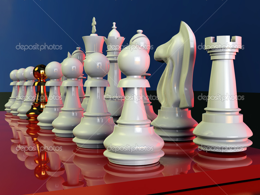 Chess battle — Stock Photo #10487201