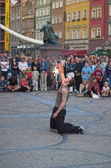 Buskerbus Festival 2004 in Wroclaw - Poland — Stock Photo